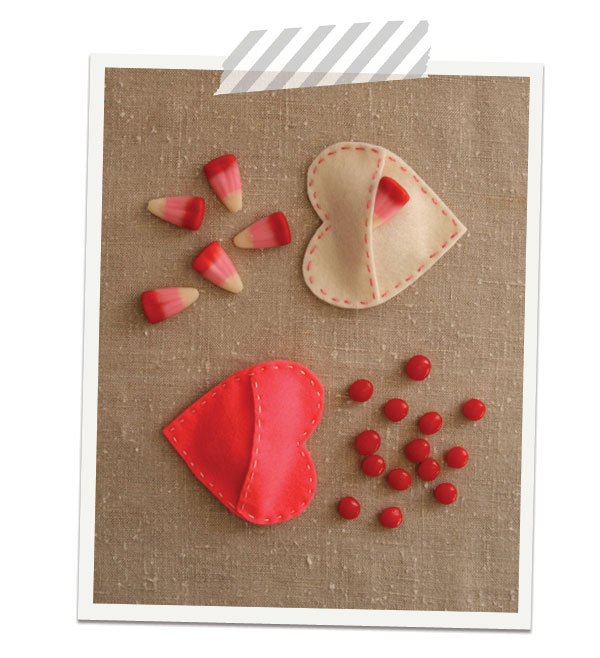 Felt-heart-pockets